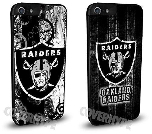 Oakland Raiders Cell Phone Hard Case TWO PACK for iPhone 5/5s