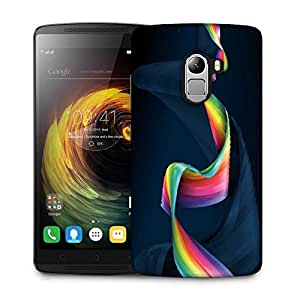 Snoogg Wavy Mixed Color Designer Protective Phone Back Case Cover For Lenovo Vibe K4 Note
