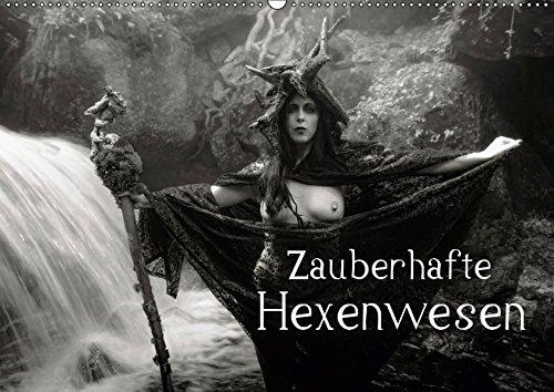 Zauberhafte Hexenwesen (Wandkalender 2019 DIN A2 quer): Düstere Gothic- und Fantasy-Erotik in hochwertigen monochromen Fotos (Monatskalender, 14 Seiten ) (CALVENDO Menschen)