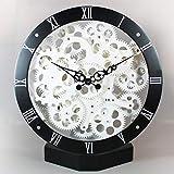 KOONNG Uhr Quartz Lautlos Wanduhr Kuckucksuhr Kreative Gangpendeluhr Quarzuhr Kunstuhr Antik Größe: 30 * 8 * 30 cm @ seat