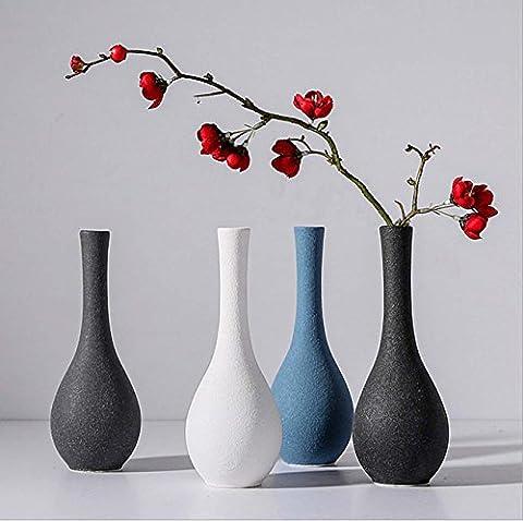 Japanische Zen Keramik Vase Vintage Einfache Scrub Kleine Vase Blumentopf Home Dekoration Schlafzimmer Wohnzimmer Wein Ornament Ideal Geschenk , a set of 4