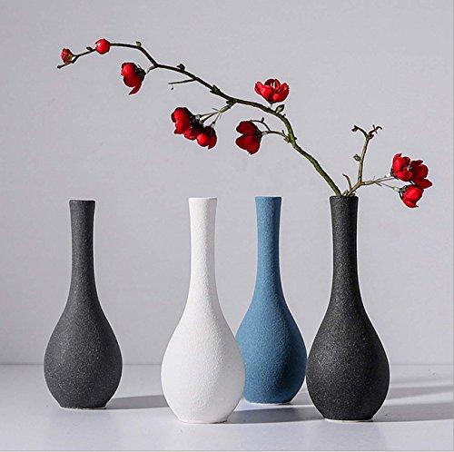 Japonés zen jarrón de cerámica vintage Simple Scrub pequeño florero florero Decoración...