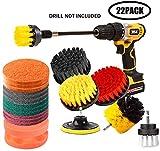 Set di accessori per spazzola da trapano da 22 pezzi, kit di spazzole per trapano, lavapavimenti, kit di pulizia per sigillanti per piastrelle, vasca da bagno, lavandini, pavimento, ruote, carpe