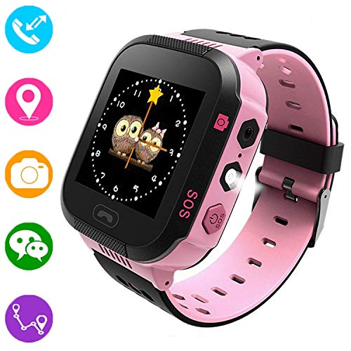 Reloj inteligente para niños, rastreador GPS para niños niñas niños verano al...