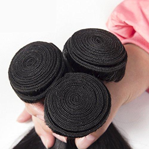 9670767ae188a Test PURUN Straight Brasilianisch Human Hair 3 Bundles 300g Silk ...