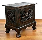 livasia Asiatischer Nachtschrank aus Massivholz, Massivholzschrank der Marke Asia Wohnstudio, Asiatische Möbel, Thai, Bali, Nr.14