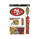 San Francisco 49ers Official NFL 11 inch x 17 inch Car Window Cling Decal by Wincraft by Wincraft