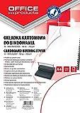 Office Products 20232515–14carátulas para encuadernar de cartón, A4, 250g/m², brillante, 100unidades), color blanco