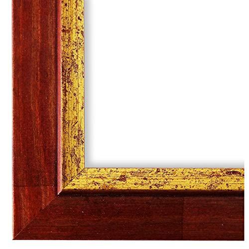 Online Galerie Bingold Bilderrahmen Rot Gold 13x18-13 x 18 cm - Modern, Shabby, Vintage - Alle Größen - handgefertigt in Deutschland - WRF - Catanzaro 3,9 -