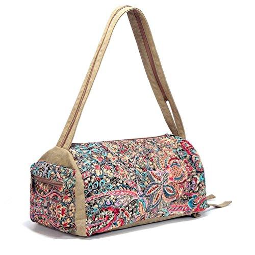 Chang Spent BUTTERFLY BLACK tela borsa a tracolla Ms. Messenger Bag vento nazionale (per inviare un piccolo specchio e portamonete) , a a