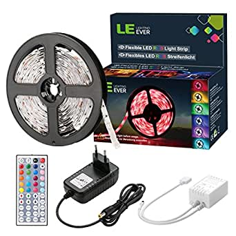 le 5m ruban led rgb dimmable couleur kit de ruban lumineux bande led lumineuse 12v flexible. Black Bedroom Furniture Sets. Home Design Ideas