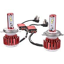XCSOURCE® LED conversión de los faros Kit Par - H4 6000K 9003- Blanco 80W 7200LM Hi / Lo de doble haz CREE de los bulbos color rojo LD783