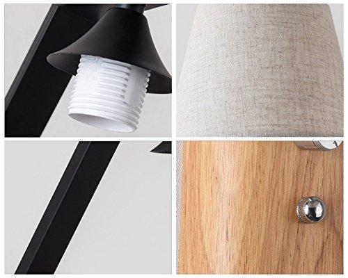 Nordic legno lampade a muro moderno e minimalista tessuto a led da