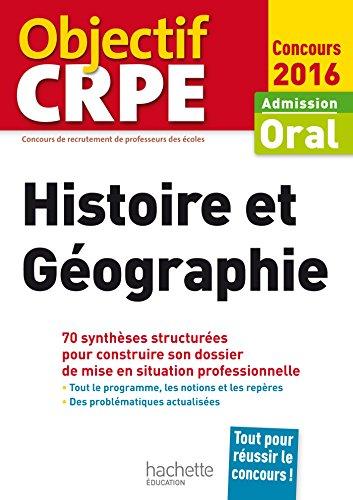 CRPE en fiches : Histoire Géographie - 2016 (Objectif CRPE)