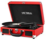 Best Receiver For Turntable - Victrola Vintage 3-Speed Bluetooth Suitcase Turntable with Speakers Review
