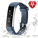 LETSCOM Fitness Tracker HR, Fitness Watch With Heart Rate Monitor, Slim Pedometer Watch Sleep Monitor, Step Counter, Calorie Counter For Kids Women And Men