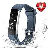 LETSCOM Fitness Armband Schrittzähler Pulsuhr, IP67 wasserdicht, Schlafüberwachung, Fitness Tracker für Damen Herren und Kinder