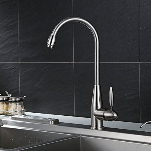 HOMFA Kitchen Sink Taps Mixer Single Lever Faucet with Swivel Spout