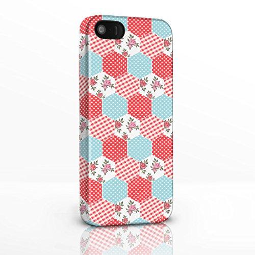 Kitsch Vintage Floral Gemustert Shabby Chic Handy Fällen für das iPhone Serie. 3D Hard Rückseite Glossy Cover für iPhone Modelle., plastik, 2. Scottie Dogs on White Background, iPhone 4 / 4S 1. Red & Blue Patchwork