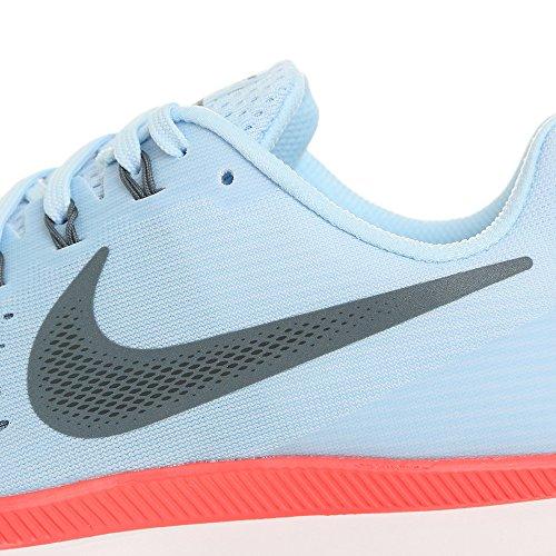 Nike Herren Air Zoom Pegasus 34 Laufschuhe, Schwarz/Rot Hellblau
