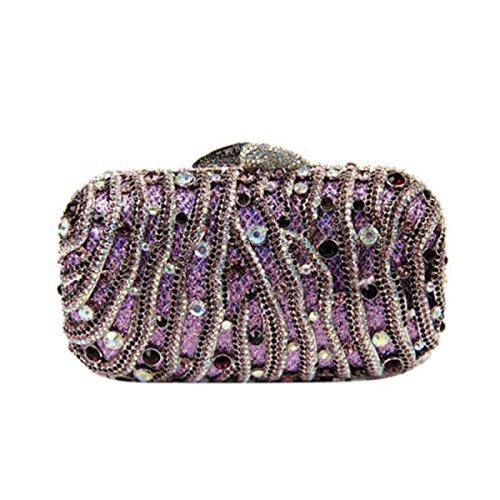 Lady Diamant Abendtasche Bankett Kleid Handtasche Abendtasche Purple