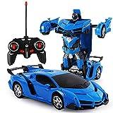 Transformar RC Car Robot, Juguetes Transformers Robot Control Remoto Electrónico RC Vehículos 360o Rotando con Función de Deformación de Un Botón y Luces LED RC Cars...