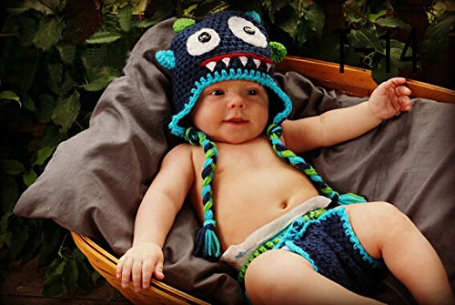 Baby Kostüme Owl Cute (Cute Baby Newborn Infant handgefertigt Crochet Beanie Eule Stil Owl Baby Kleidung fotografiert Zubehör, Cartoon Fashion Kinder Fotografie Requisiten Foto Requisiten Kostüm Kleidung tragen (geeignet für Babys 0–46Monate zu)