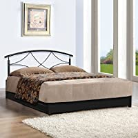 FurnitureKraft LiftOn FK/DB/5046 Queen Size Bed with Storage (Glossy Finish, Black)