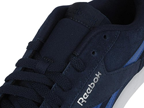 Real Cuero O Zapatos De Comple Marina Al Grafito Bajo Reebok De Imitación De dHqUX