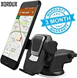#8: XORDUX™ SPECIAL OFFERS : Adjustable Mobile Stand For Car Dashboard and windshield With Quick One Touch Technology (Expandable & Rotatable) | Car Mobile Holders For Dashboard and Windshield ( Black Color )