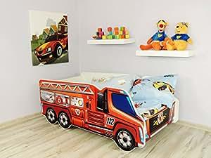 top beds baby kinderbett mit matratze design feuerwehrauto k che haushalt. Black Bedroom Furniture Sets. Home Design Ideas