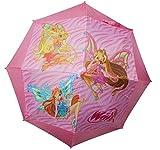 Bellissimo ombrello delle Winx 100% Merchandise Ufficale Rainbow prodotto da Perletti Ombrello manuale con apertura di sicurezza automatica Bacchette in fibra di vetro con puntine arrotondate e fissate che garantiscono una maggiore sicurezza,...