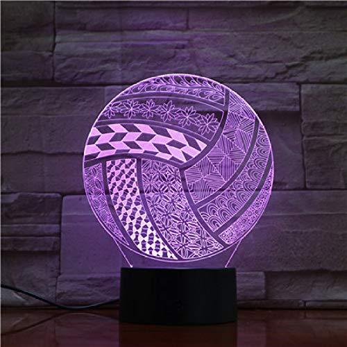 wangZJ 3d Lámpara de ilusión visual / 7 / Luces de la noche/Decoración del hogar/Dormitorio Acrílico/Led Arte/Niños regalo/Voleibol