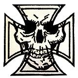 Skull Chopper Cross Patch Chopper Kreuz Patches Totenkopf Aufnäher Applikation Embroidered Iron on Biker Patches Bügelbilder Aufbügler