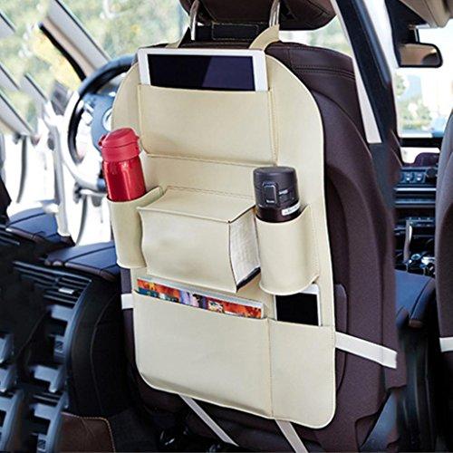 Preisvergleich Produktbild GOUGOUAuto Multifunktion Sitztasche Stuhl zurück Lederbeutel , beige