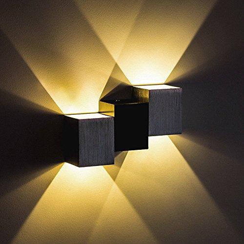 Hrcxue lampade da parete,in soggiorno,camera,corridoio,bagno,le scale,cucina la semplice idea di moderna lampada da parete led hotel hotel camere engineering home camera da letto soggiorno con balcone, luci da parete luce gialla 6w