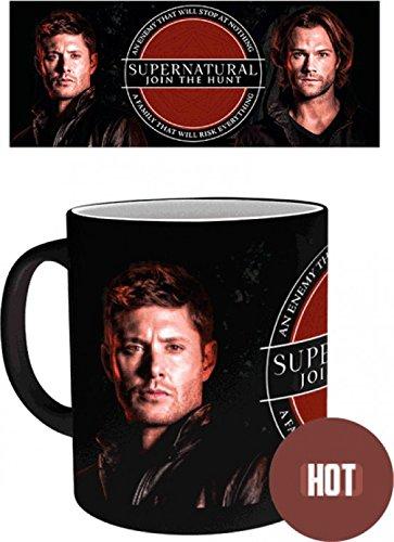 1art1 108312 Supernatural - Sam and Dean Zauber-Tasse Farbwechseltasse 9 x 8 cm