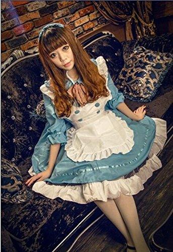 Gorgeous Japanische Comic Con Prinzessin kleiden, kleiden nette entzückende Lolita Dienstmädchen-Outfit Mädchenkleid , azure