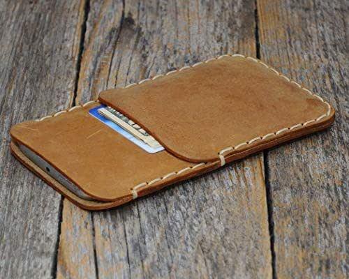 Marrone chiaro custodia a guscio per Samsung Galaxy Note 20 ULTRA in cuoio con 1 porta carta di credito e banconote verticale portacellulare cover case caso