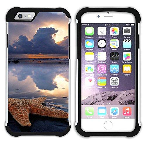 """Graphic4You """"Hello Summer"""" Seestern Sand Strand Hart + Weiche Kratzfeste Hülle Case Schale Tasche Schutzhülle für Apple iPhone 6 Plus / 6S Plus Design #15"""