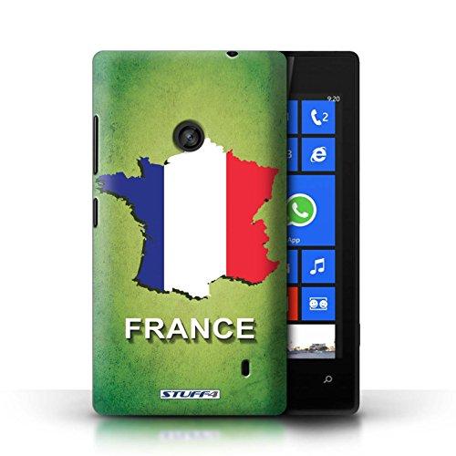 Kobalt® Imprimé Etui / Coque pour Nokia Lumia 520 / Irlande/irlandaise conception / Série Drapeau Pays France/Français