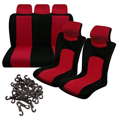 Preisvergleich Produktbild Rot Schwarz 9 sets Deckung Sitz Auto Ausbrüten Komplette Schutz