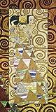 Artland Modell-Rahmen Wand-Bild gerahmt mit Motiv Gustav Klimt Die Erwartung Vorlage zum Stocletfries. Um 1905/09 Menschen Frau Malerei Gold 101,4 x 51,4 x 1,6 cm C1OP