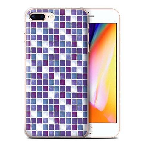 Stuff4 Hülle / Case für Apple iPhone 8 Plus / Pack (15 Modelle) / Bad Fliesen Kollektion Lila/Weiß