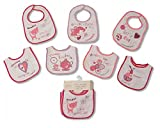 Baby Bibs 7 days of the Week Bibs Boys and Girls options 0-6 Months (Girls 7 days)