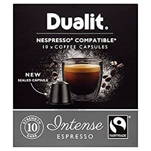 Dualit Intense Nespresso Compatible NX Coffee Capsules 10 per pack