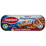 Saupiquet Filets de Maquereaux Grillés Sauce Barbecue 120 g - Lot de 5