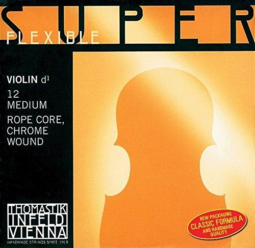 Thomastik Corde per Violino Superflexible nucleo corda set 4/4 medium, tutte le corde sono ricoperte in acciaio