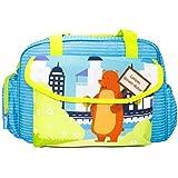 Rachna's Lorem Ipsum Dolor Bear Matte Fabric Multi-Purpose Travel Organizer Water Repellent Baby Diaper Bag - 1701 - Blue