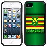 OUUcase Kanaka Maoli Hawaï Hawaii iPhone 5C Motif Drapeau Anglais Noir DIY HD new design Coque rigide en polycarbonate